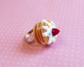 Polymer Clay Confetti Sprinkles Strawberry Pancake Ring