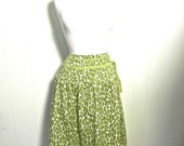 Vintage Skirt 40s 50s Style Green Flared Swing Skirt XL Plus - on sale