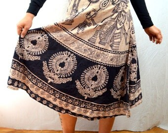 Lovely Vintage 70s 80s Hippie Summer Skirt