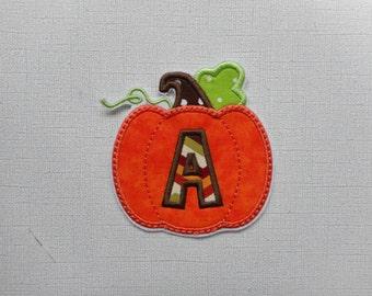 Free Shipping PUMPKIN ALPH  Machine embroidery  Iron On Applique