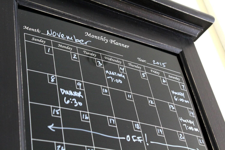 Wall Decor Perpetual Black Dry Erase Calendar Family Planner