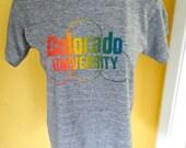 Colorado University 1980s super soft vntage tee shirt size medium