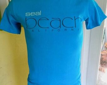 Seal Beach California 1980s vintage tee shirt size medium