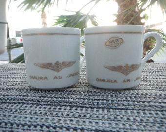 Japanese Fine Porcelain Tea Cups JMSDF