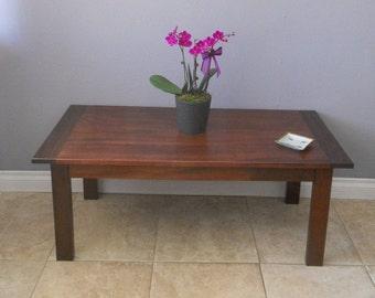 Reclaimed African mahogany farm coffee table