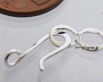 Silver Hook/Eye Clasps 20 Sets Medium Size