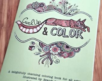 Adult Coloring Book - Coloring Pages - Zentangle - 24 Original Illustrations by Brandi Light Daily Doodler - Bohemian Art 8.5x11 - Mandala