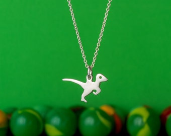 Dinosaur Necklace Dinosaur Charm Velociraptor Pendant Sterling Silver Dino Pendant Dinosaur Charm Kids necklace boys Birthday necklace