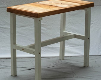 Side table from recycled wood