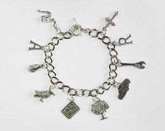 Adam/Ronan [The Raven Cycle] Inspired Charm Bracelet