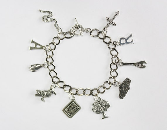 Adam/Ronan [The Raven Cycle] Inspired Charm Bracelet