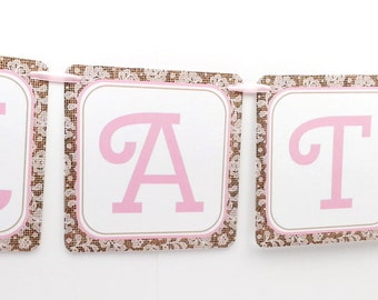 Name Banner - Made to Match Cowgirl / Western Party Birthday Banner