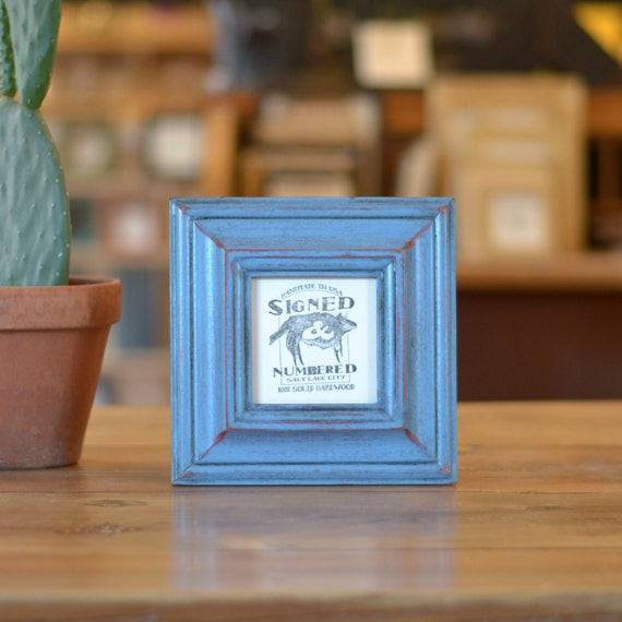 4x4 Square Photo Picture Frame in Mulder Style and Color OF YOUR CHOICE - 4x4 Photo Frame - 4x4 Picture frame - Handmade Wooden Frame