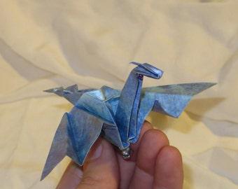 Origami Dragon Pin/Broach