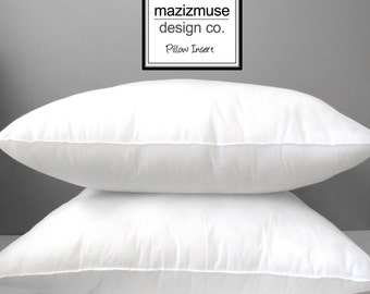 "12""x18"" Pillow Form - Outdoor Indoor Pillow Insert - Hypoallergenic Pillow Form - Synthetic - Purchase with Mazizmuse Pillow Covers Only"