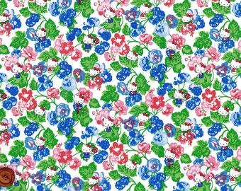 Liberty Tana Lawn Fabric - Liberty Japan, Momoko Blackberry, Liberty Print Cotton Scrap, Kawaii Floral, Patchwork Quilt Fabric, ntkitty81f
