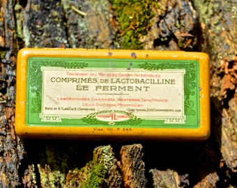 Antique French Medicine Tin