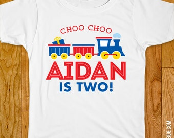 Train Party Iron-On Shirt Design - Choose child or onesie size