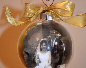 Wedding/Anniversary Photo Ornament Keepsake First Year Ornament