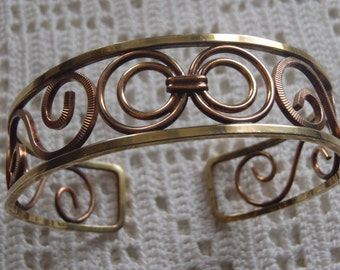Vintage Bracelet Gold Filled Filigree Cuff Hayward