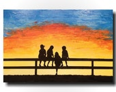 Large Abstract painting - 24 X 36 Wall Art FREE US SHIPPING  JMJartstudio- Memories- Paintings-wall decor - Silhouette painting-Oil