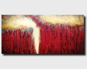 Original Large Oil painting - 24 X 48 Inches-by Artist JMJartstudio- Dance in the Night -Wall art- FREE  US Shipping -Oil painting