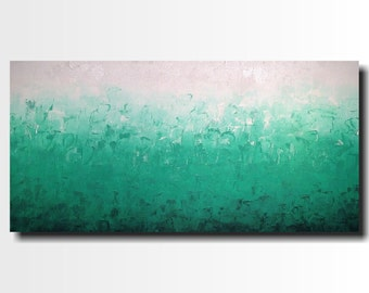 Original Large Abstract painting - 24 X 48 Inches-by Artist JMJartstudio-Fresh-Wall art-wall decor - FREE SHIPPING-Oil painting-XXL