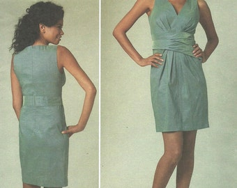 Vogue 1221 / Designer Sewing Pattern / Dress / DKNY / Donna Karan / Size 14 16 18 20