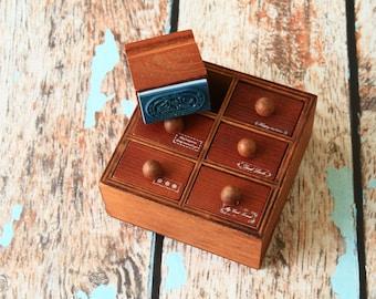 zakka Creative Design drawer craft rubber stamps set
