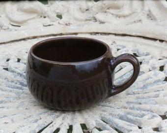 Coffee or Teacup Metlox Poppytrail Shoreline Driftwood Brown Flat Cup