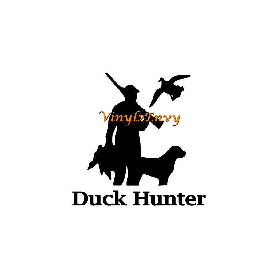 Duck hunter decal car decal vinyl car decals window for Duck hunting mural