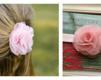 Light Pink Baby Headband, Headband, Baby Girl Headband, Newborn Headband, Shabby Chic Flower