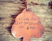 Tree Keyring ~ Teachers Thank You Gift / Teaching Assistant Present / Thank You for Helping Me Grow / Keyring From Kids / Handmade Gift