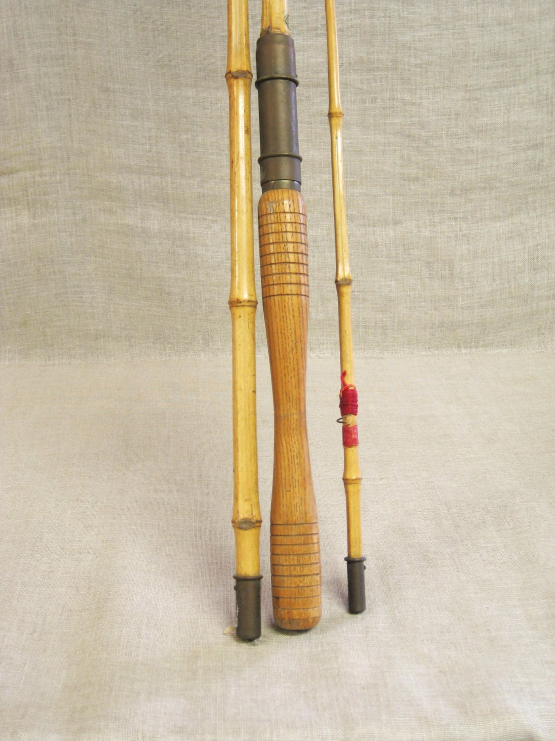 Antique bamboo fly fishing rod orion chicago foot cane