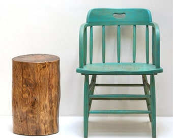 Tree Stump Seating End Side Table Stool Trunk