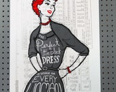 Little Black Dress - hand pulled screenprint poster