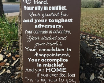 Wedding Vows Wood Sign ~Custom Wedding Vows ~Wedding Vow Art ~Wedding Gift ~First Anniversary Gift ~Personalized Wedding Sign ~I Take You