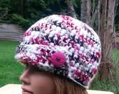 clearance- womens crochet hat, womans crochet hat, girls crochet beanie, womens beanies, newsboy hat, woman beanie, vegan friendly, 2511