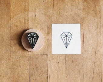 Little Diamond - Hand Carved Rubber Stamp