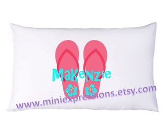 Flip Flop Fun PillowCase Personalized just for you