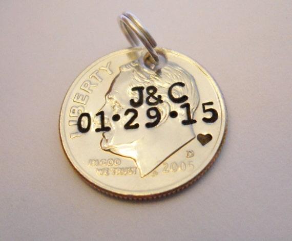 10th Anniversary Wedding Gifts: 10th Anniversary Gift: Custom Pendant/Keychain Charm; 10