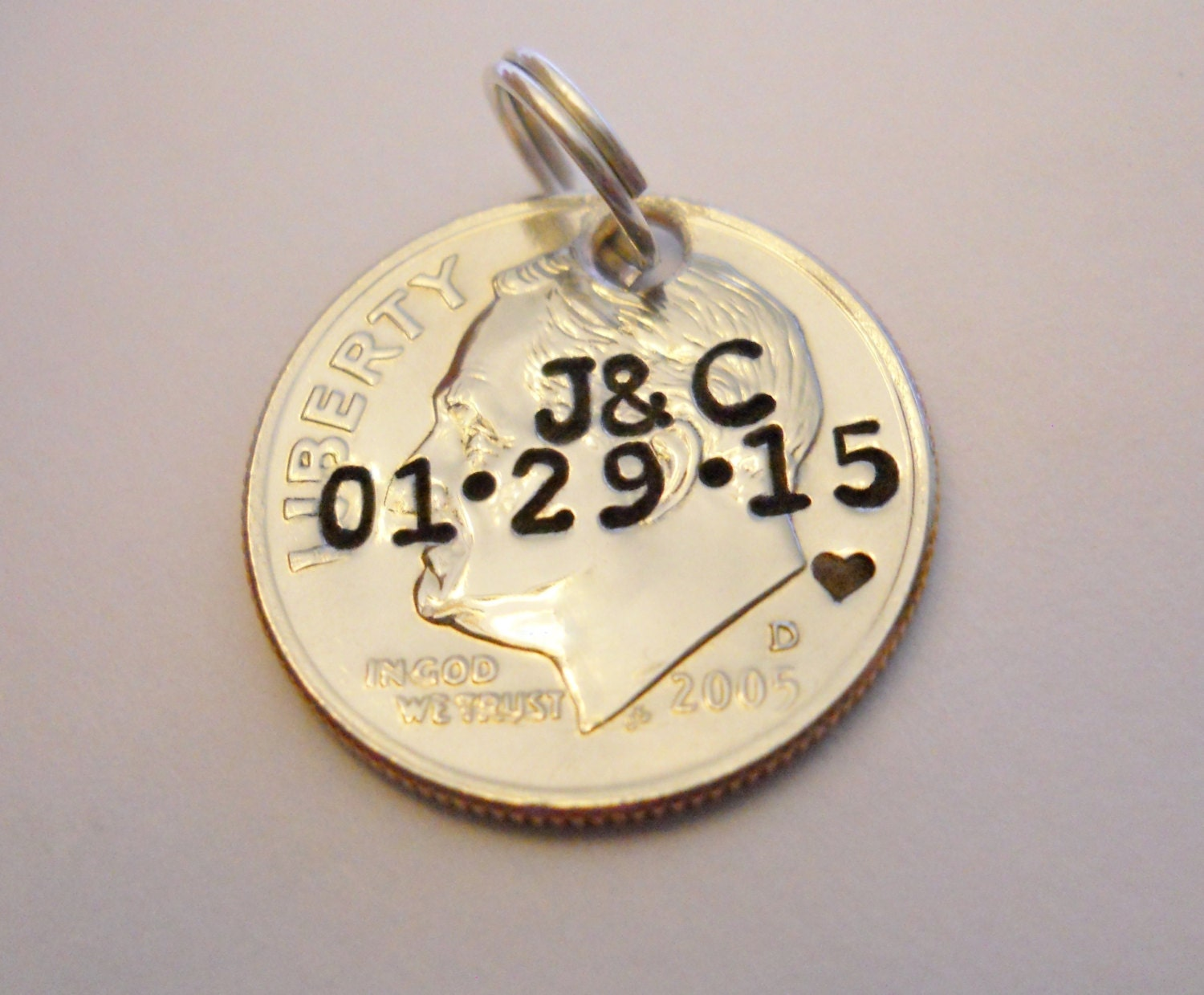 10th Wedding Anniversary Gift For Him: 10th Anniversary Gift: Custom Pendant/Keychain Charm; 10