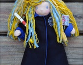 Luna Lovegood from Harry Potter ...a wee 8 inch Short Story Waldorf Doll by Once Upon A Doll
