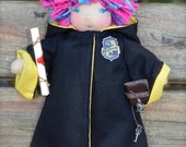 Nymphadora Tonks from Harry Potter ...a wee 8 inch Short Story Waldorf Doll by Once Upon A Doll