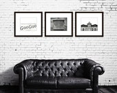 Nashville prints black and white photography industrial wall art sign a Fiddle and Steel photography city photography Nashville wall decor