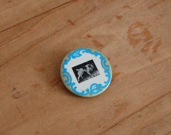 Vintage 1950s Button - 50s Dog Pin - The Sadie
