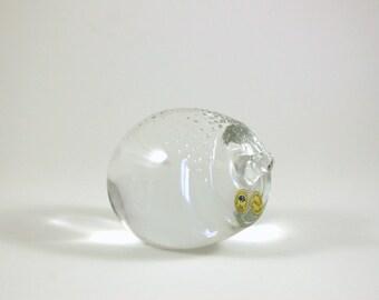 Kastrup Holmegaard Crystal Art Glass Porcupine or Hedgehog Figurine - Denmark