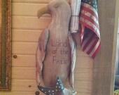 Made to Order Primitive American Eagle Ozark Mountain Prims Rustic Folk Art Hand Sculpted Hafair OFG STATTEAM DUBTeam