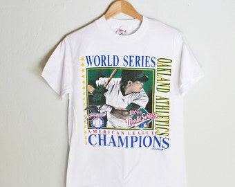 Vintage New Old Stock Oakland A's 1989 World Series Tshirt - S/M