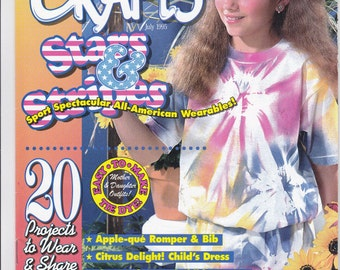 Wearable Crafts Magazine, July 1995, Craft Projects to Wear & Share, Wearable Craft Project Assortment